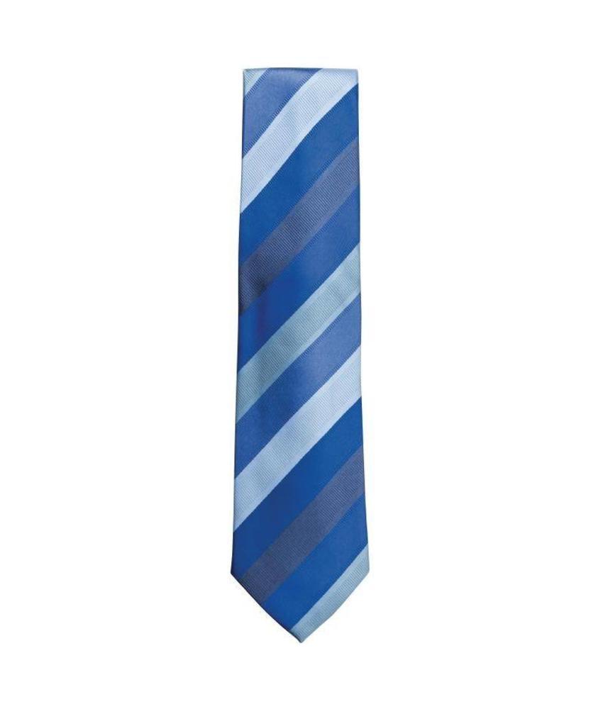 Uniform Works Stropdas blauw gestreept