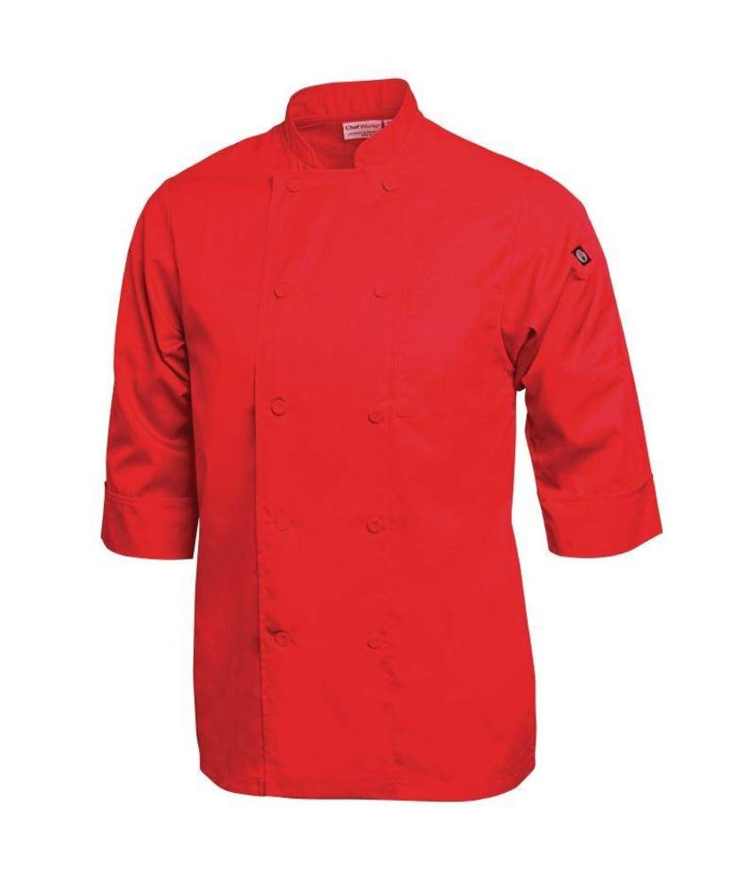 Chef Works gekleurde Lite Koksbuis rood