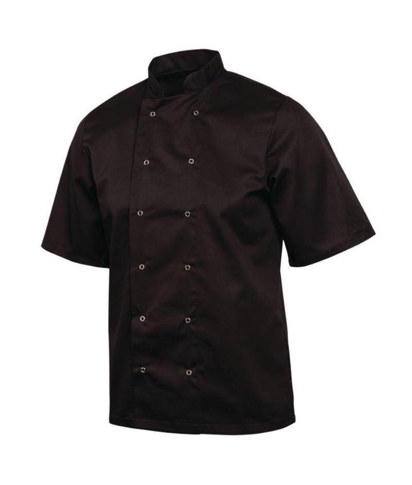 Whites Chefs Clothing Vegas koksbuis korte mouw zwart