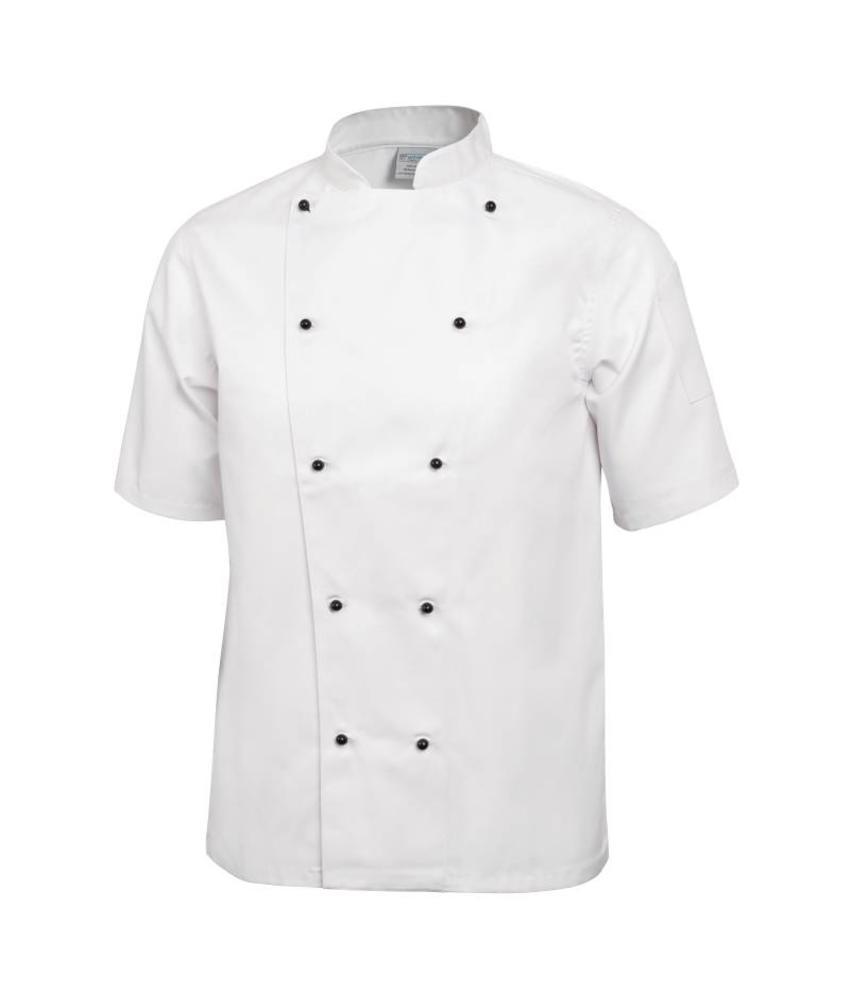 Whites Chefs Clothing Chicago koksbuis korte mouw wit