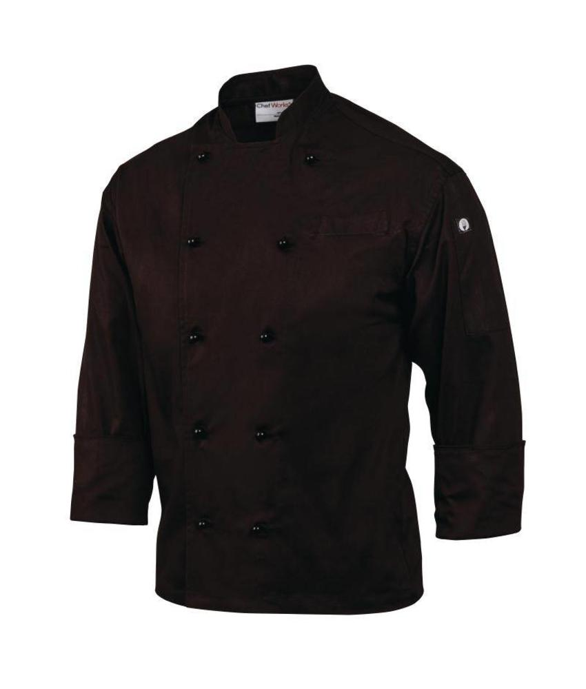 Chef Works zwarte koksbuis Monaco