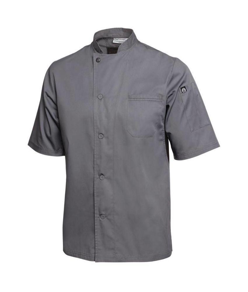 Chef Works Valais Cool Vent koksbuis grijs met zwart