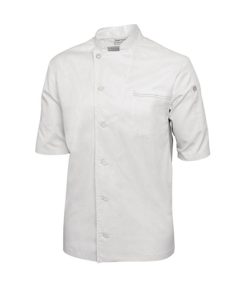 Chef Works Valais Cool Vent koksbuis wit met grijs