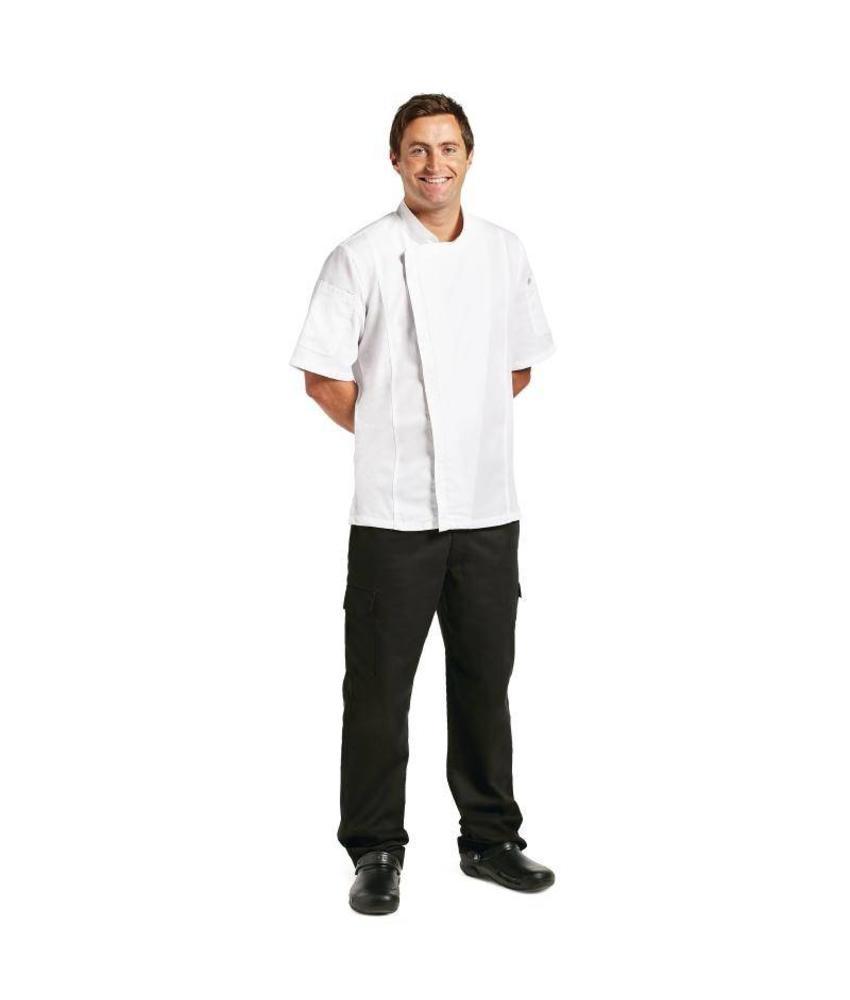 Chef Works Springfield koksbuis met rits wit L