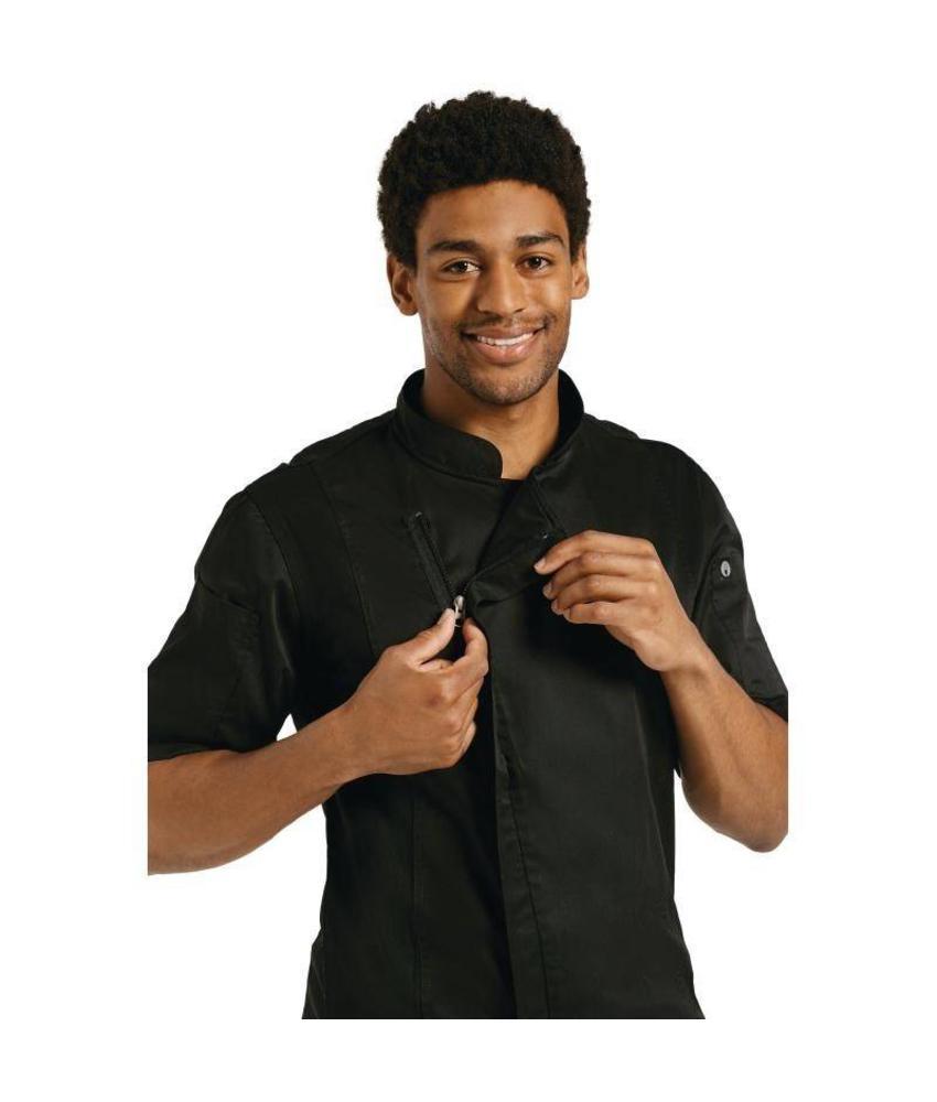 Chef Works Springfield koksbuis met rits zwart
