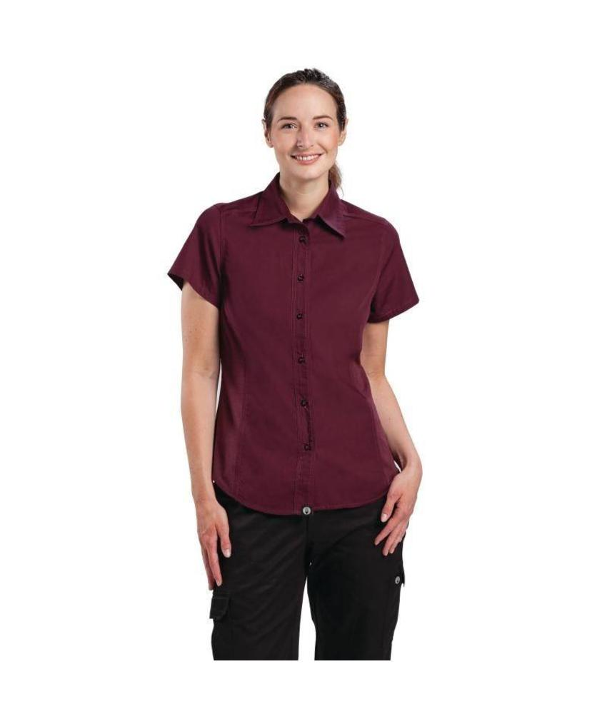 Chef Works Cool Vent dames shirt bordeaux