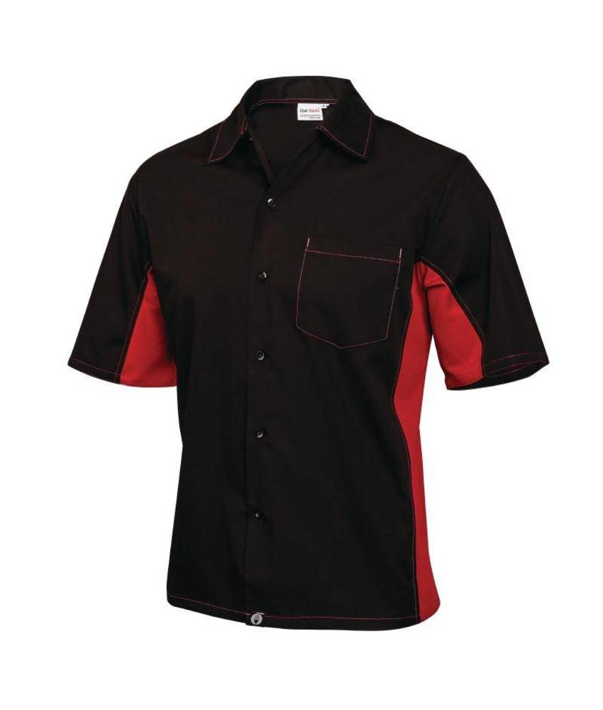 Chef Works Cool Vent contrast shirts rood