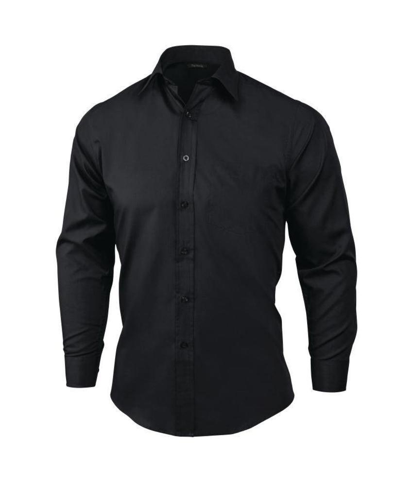 Uniform Works unisex overhemd zwart lange mouw