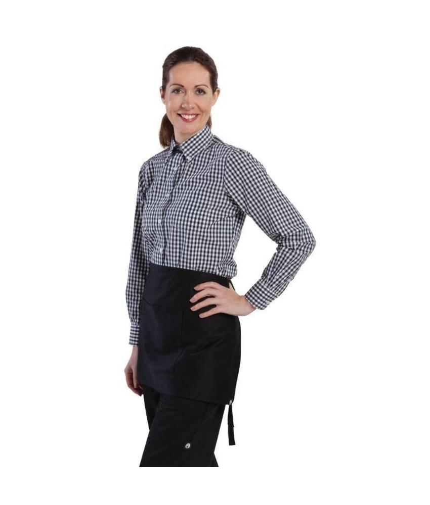 Uniform Works dames Gingham overhemd zwart