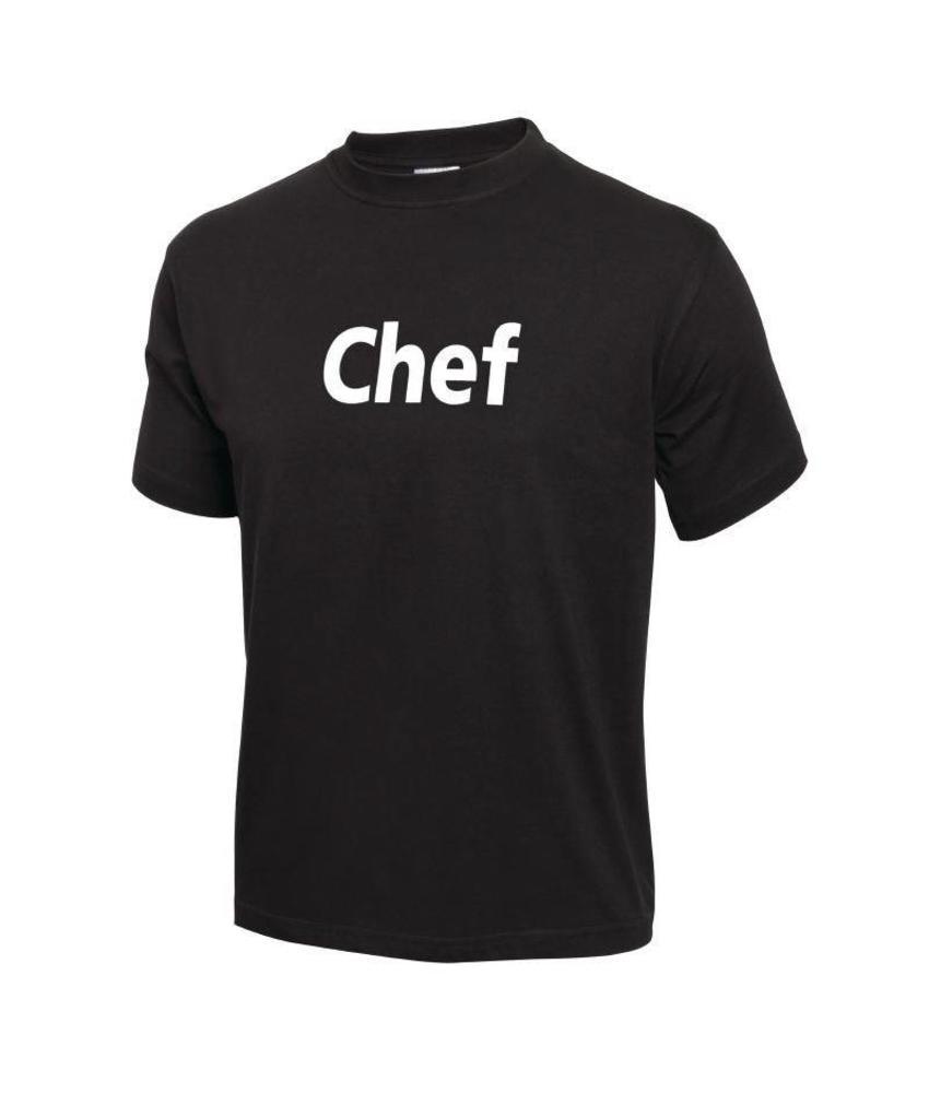 'Chef' t-shirt zwart