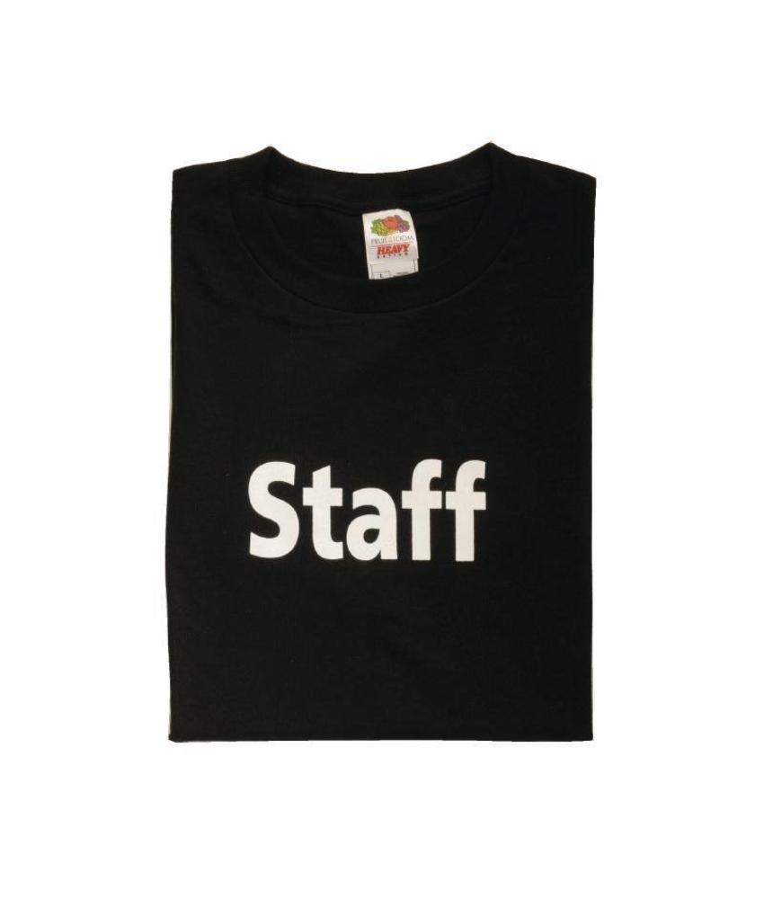 'Staff' t-shirt zwart