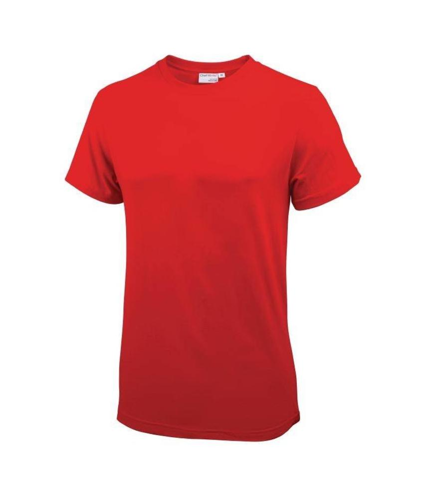 Chef Works unisex T-shirt rood