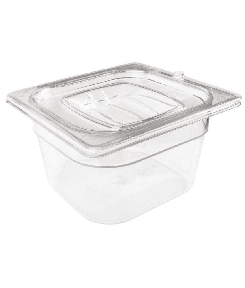 Rubbermaid Rubbermaid transparante polycarbonaat GN1/6 bak 150mm