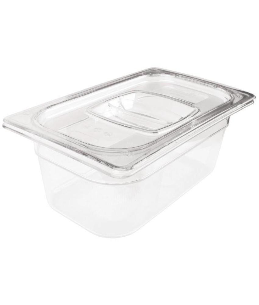 Rubbermaid Rubbermaid transparante polycarbonaat GN1/4 bak 100mm