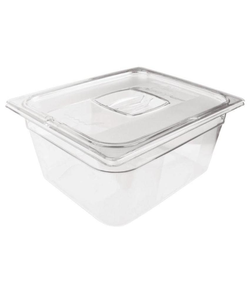Rubbermaid Rubbermaid transparante polycarbonaat GN1/2 bak 65mm