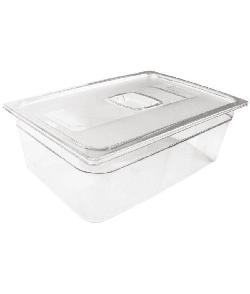 Rubbermaid Rubbermaid transparante polycarbonaat GN1/1 bak 65mm