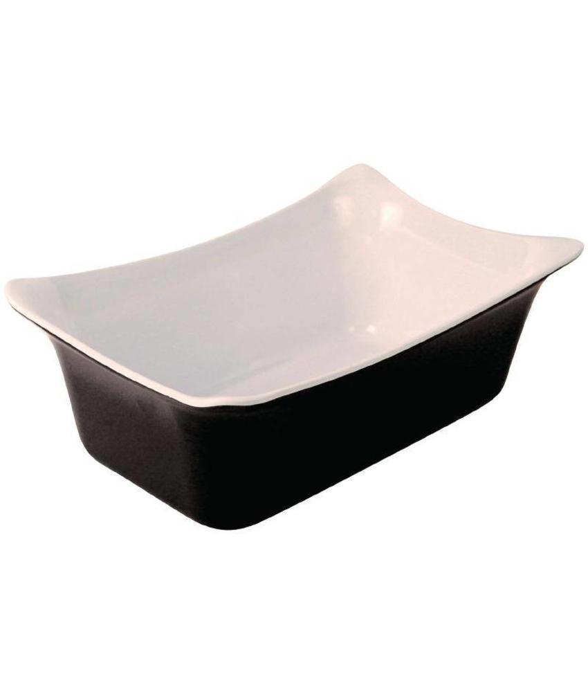 Dalebrook melamine schaal 1/4GN zwart/wit