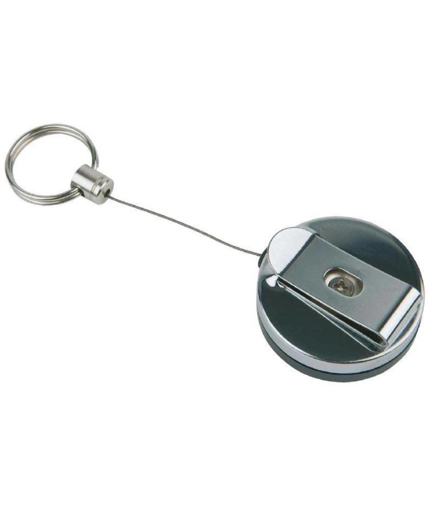 APS RVS intrekbare sleutelhangers 2 stuks