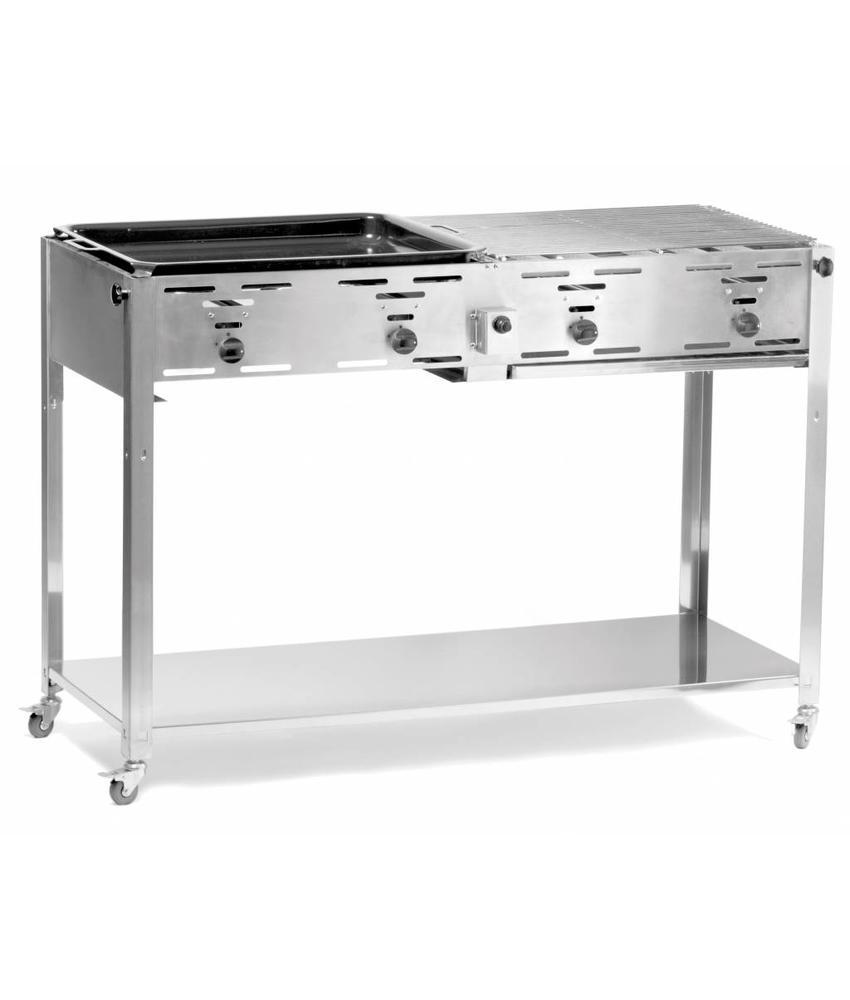 Hendi Gasbarbecue Grill-Master Quattro 1270x525x(H)840