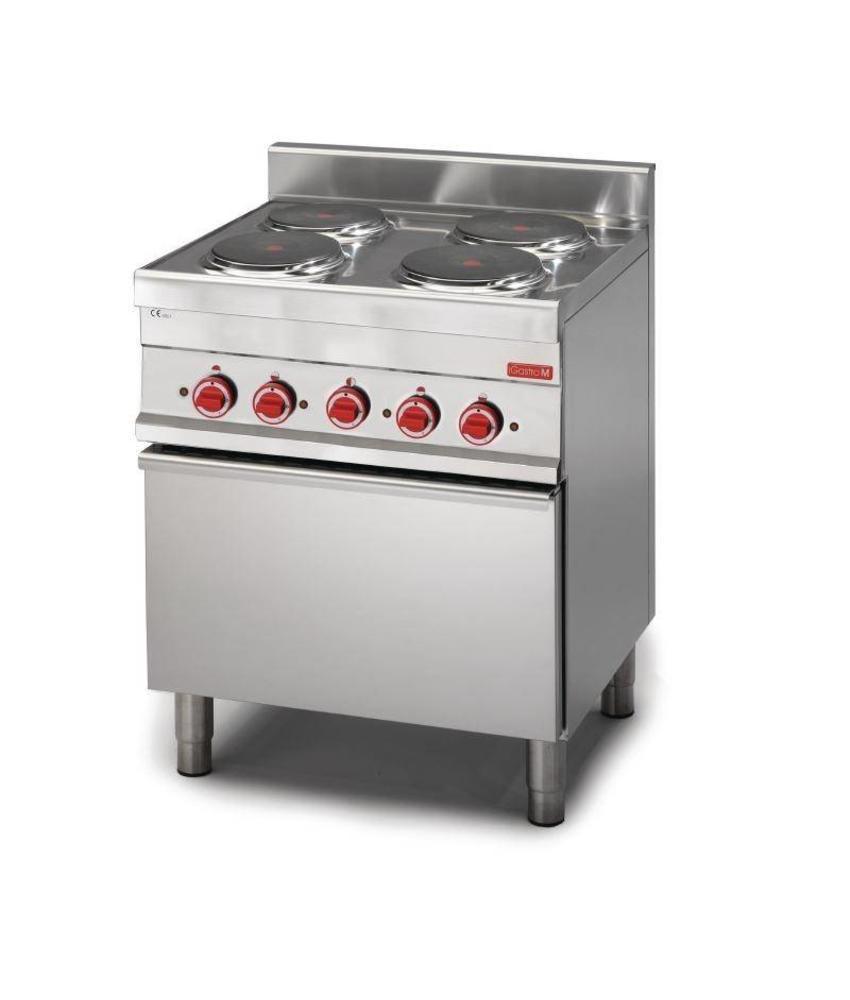 GASTRO-M Gastro M 650 elektrisch fornuis met 4 kookzones en heteluchtoven