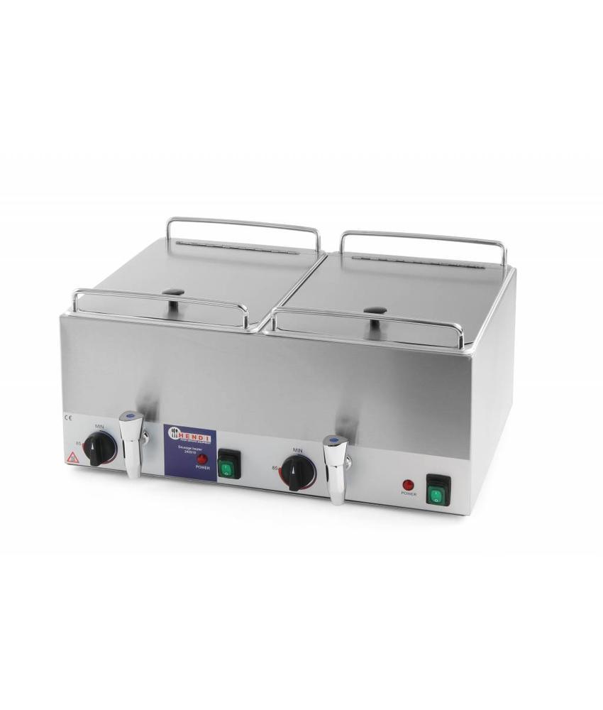 Hendi Worstenwarmer dubbel 2x10 l 230V 2x1000W Kitchen Line