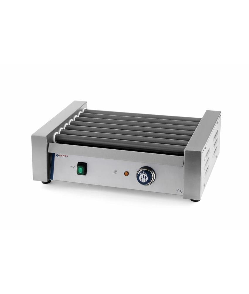Hendi Worsten roller grill 9 rollers 520x400x175 mm 230V 940W