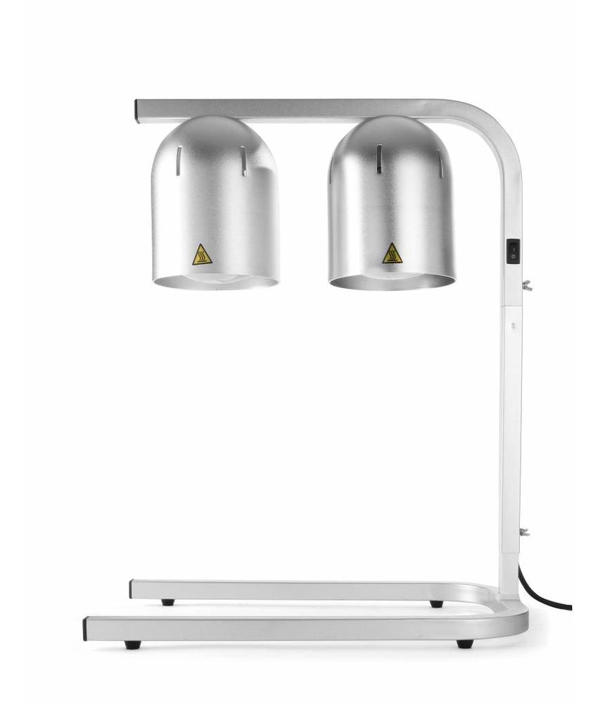 Hendi Warmhoudbrug aluminium 230V 500W met 2 infrarood lampen