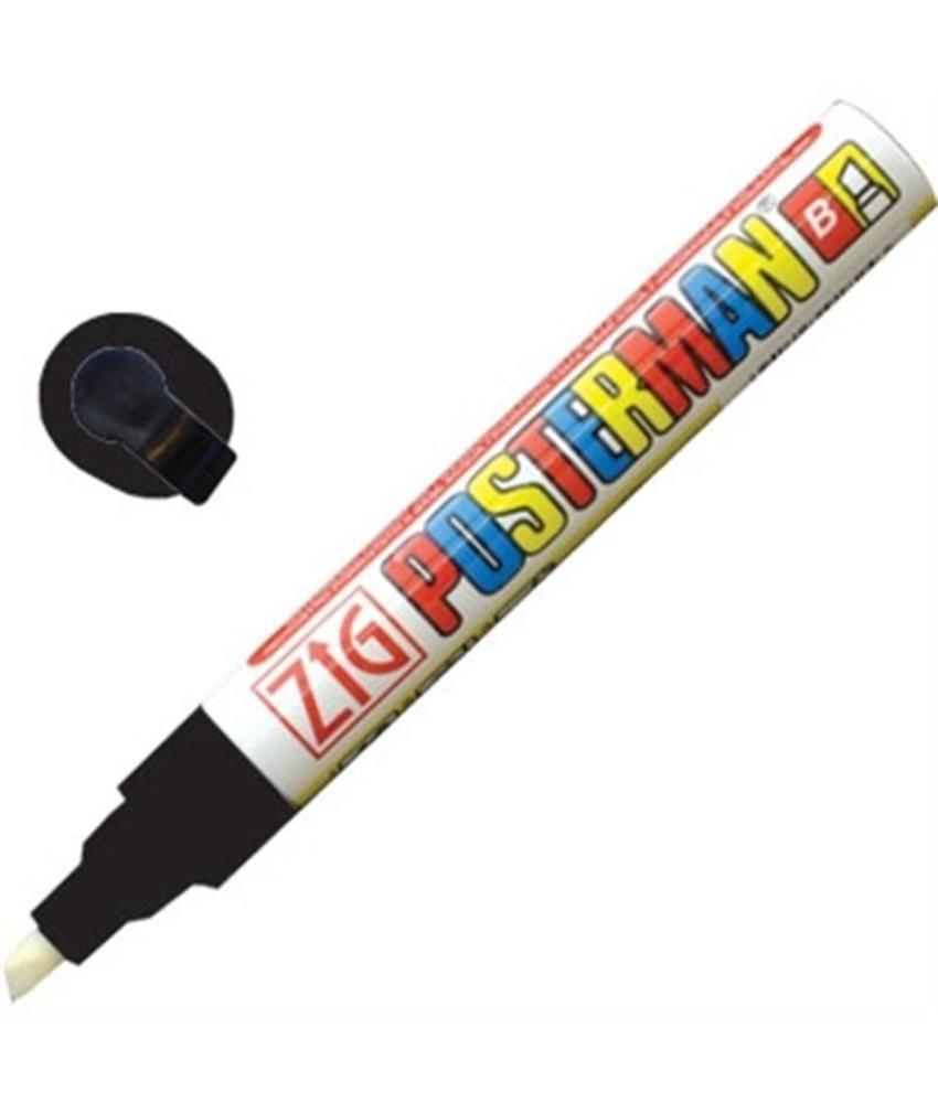 Securit Zig Posterman weerbestendige krijtstiften zwart 6mm