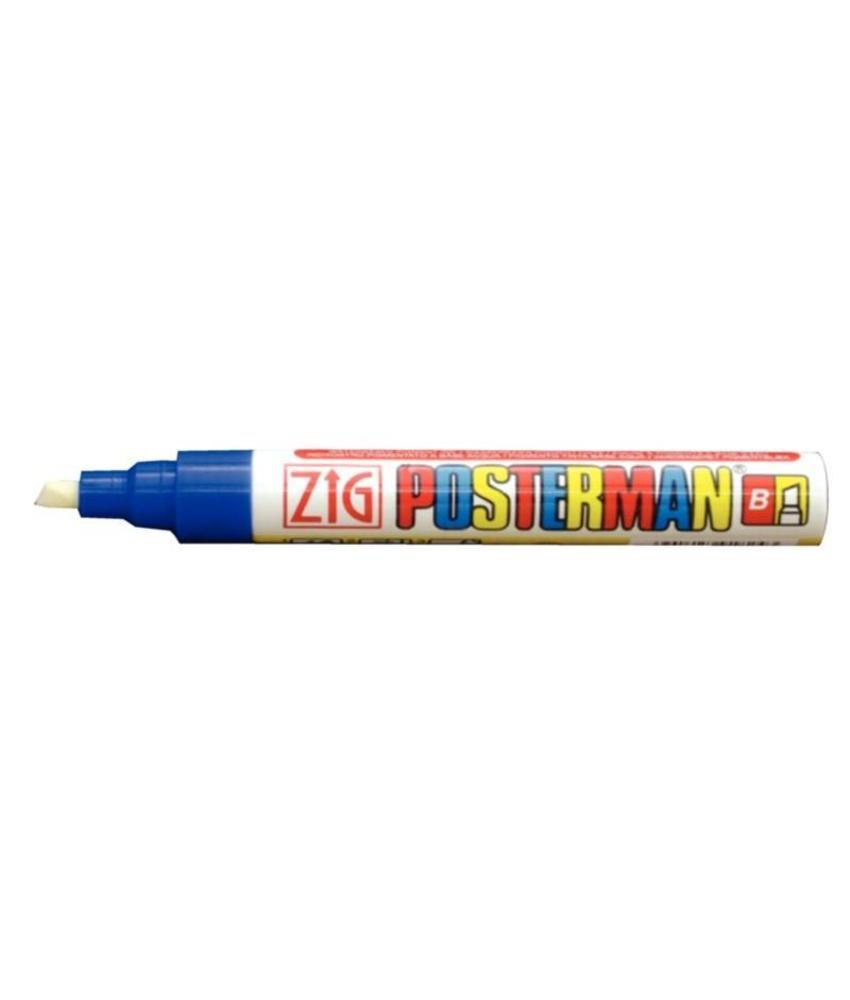Securit Zig Posterman weerbestendige krijtstiften blauw 6mm