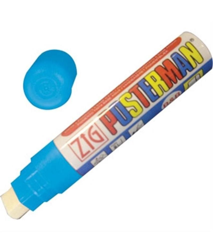 Securit Zig posterman weerbestendige stift licht blauw 15mm