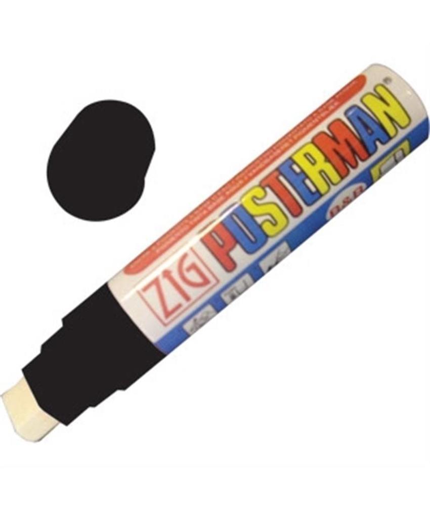 Securit Zig posterman weerbestendige stift zwart 15mm