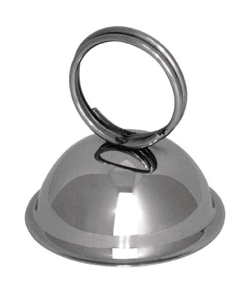 Olympia RVS menukaarthouder ring