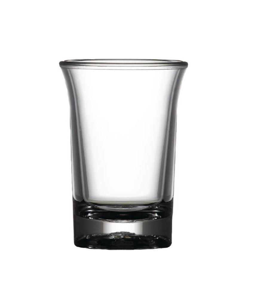 BBP Elite polycarbonaat CE shot glas 2,5cl 24 stuks