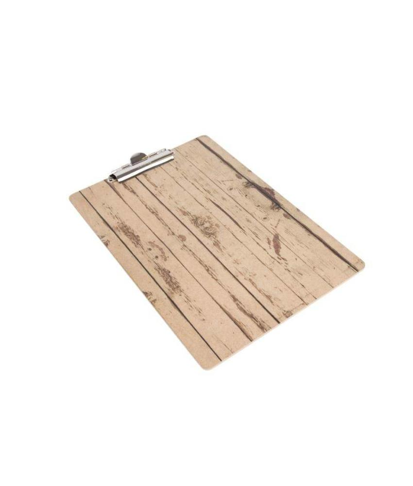 Olympia menu klembord met houten effect A5