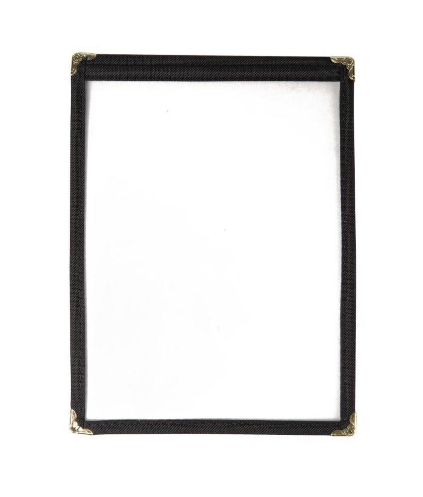 Olympia menuhouder A5 zwart 2 bladzijden