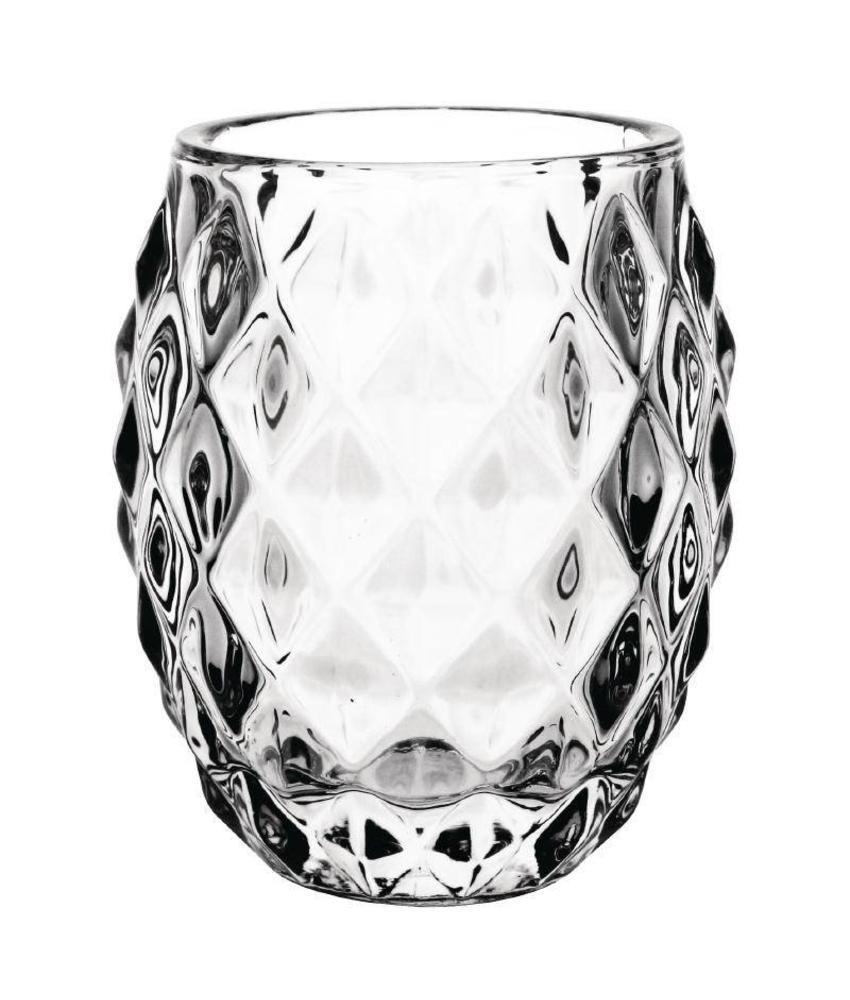 Olympia Olympia glazen diamant theelichthouder doorzichtig 7,5cm 6 stuks