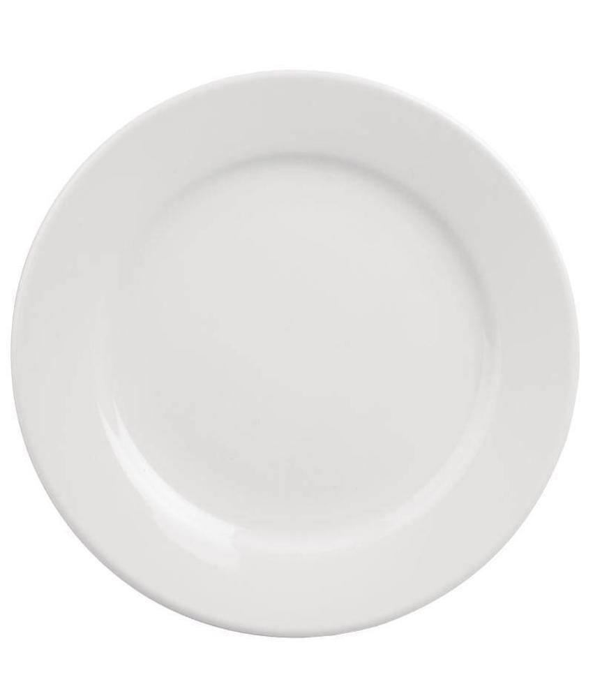 Athena Hotelware Athena Hotelware borden met brede rand 16,5cm 12 stuks