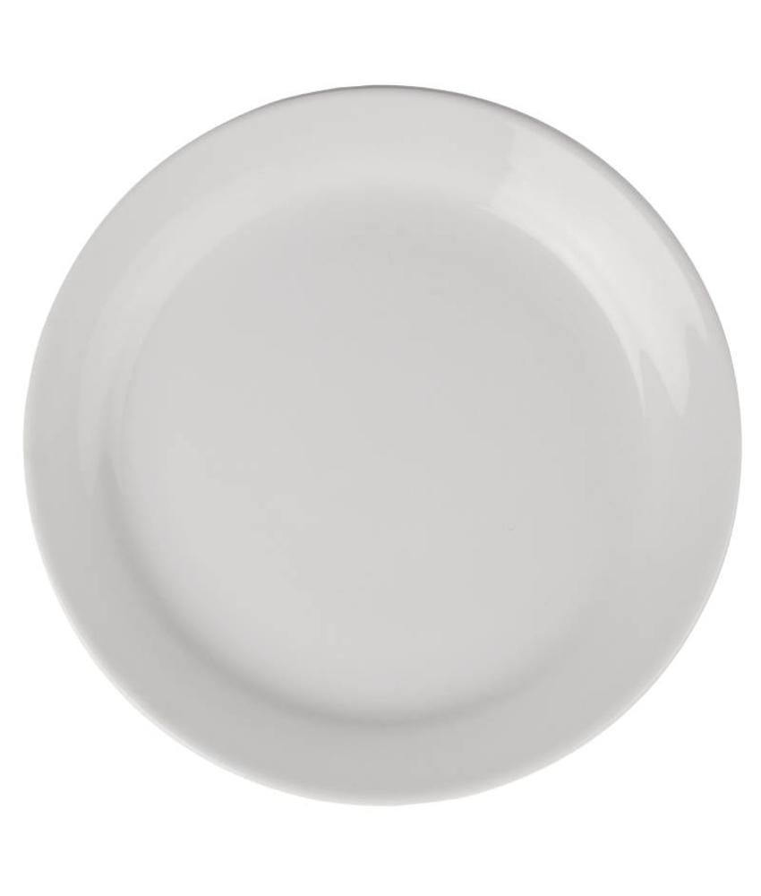 Athena Hotelware Athena Hotelware borden met smalle rand 22,6cm 12 stuks