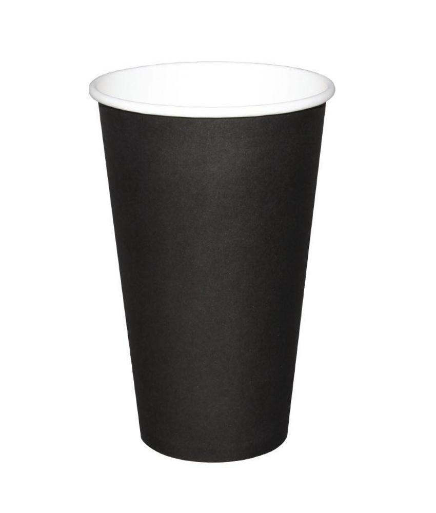 Fiesta Fiesta Hot Cups enkelwandig zwart 48cl x50 50 stuks