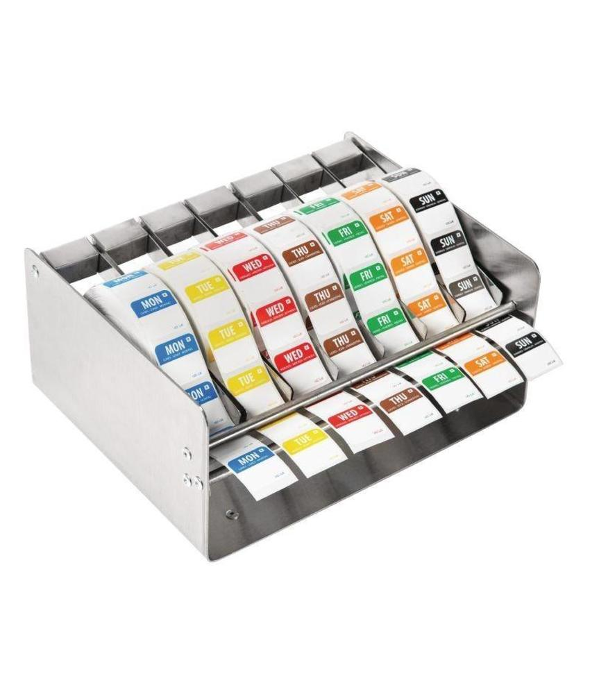 Vogue Vogue kleurcode RVS stickerdispenser + stickers