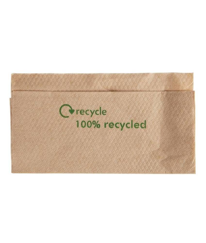 Gerecyclede servetten van kraftpapier 1-laags 6000 stuks