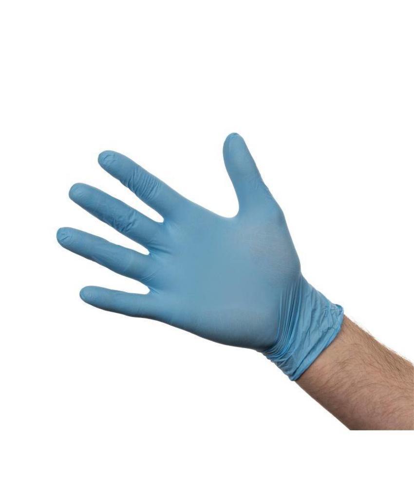 Nitril handschoenen blauw poedervrij L 100 stuks