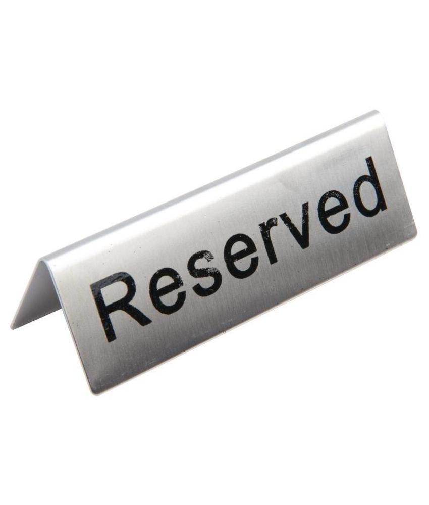 Olympia RVS tafelbordje RESERVED 10 stuks
