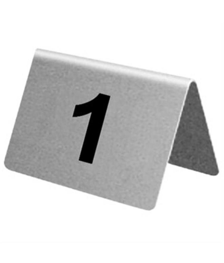 Olympia RVS tafelnummers 21-30 10 stuks