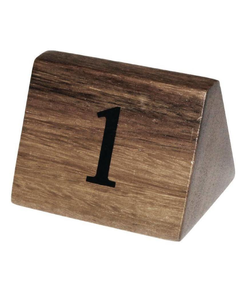 Olympia Olympia houten tafelnummers 1-10 10 stuks
