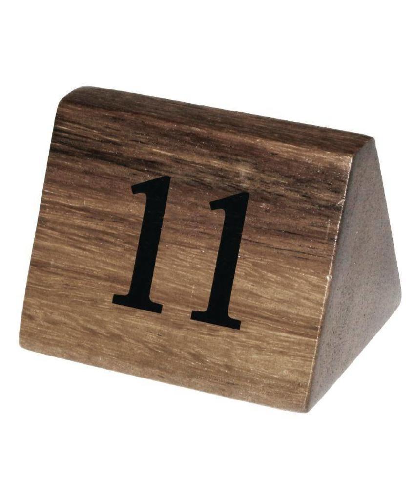 Olympia Olympia houten tafelnummers 11-20 10 stuks