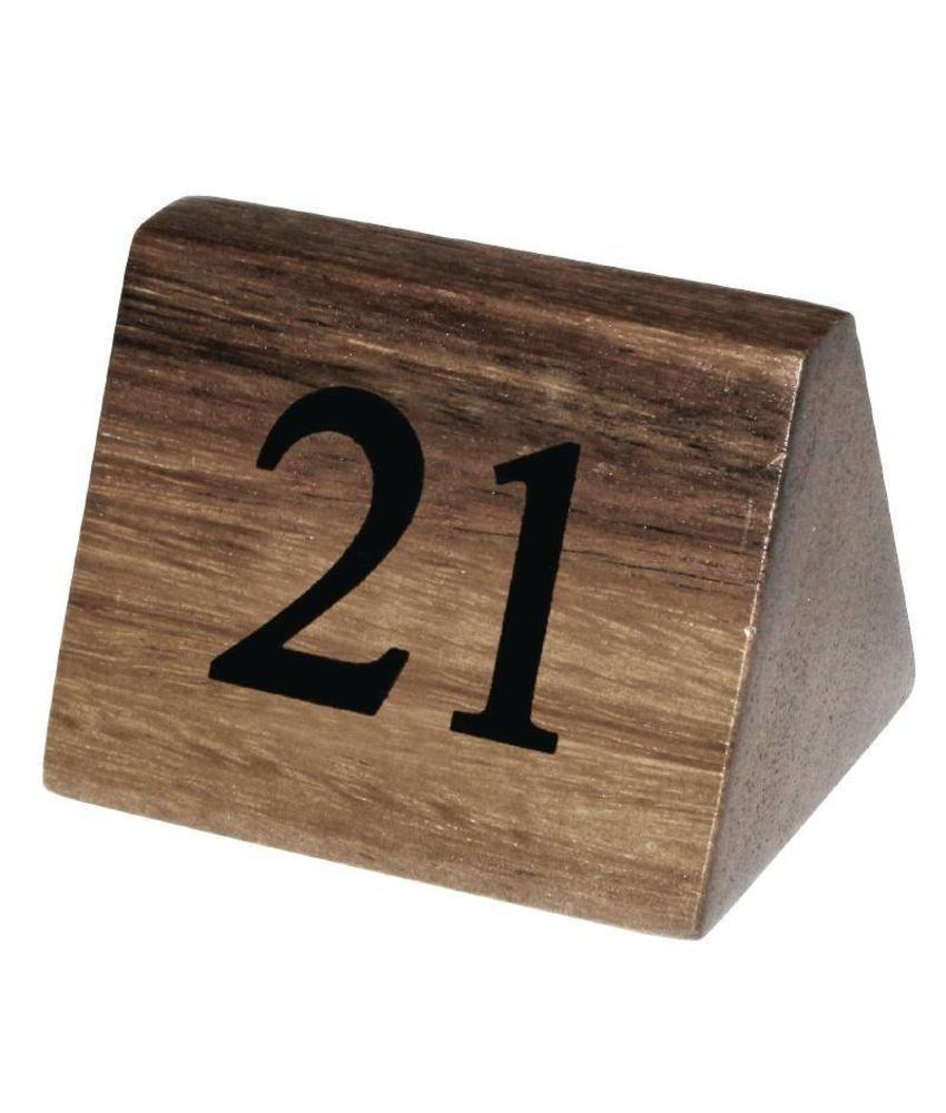 Olympia Olympia houten tafelnummers 21-30 10 stuks