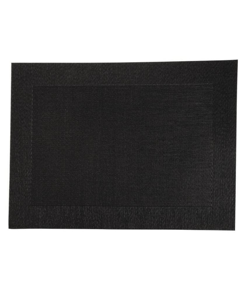 Olympia PVC geweven placemats zwart 4 stuks