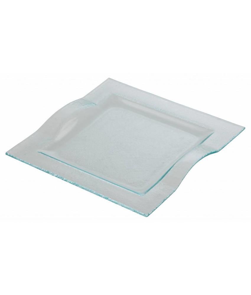 Stylepoint Glasbord wave vierkant 24,5 cm 6 stuk(s)