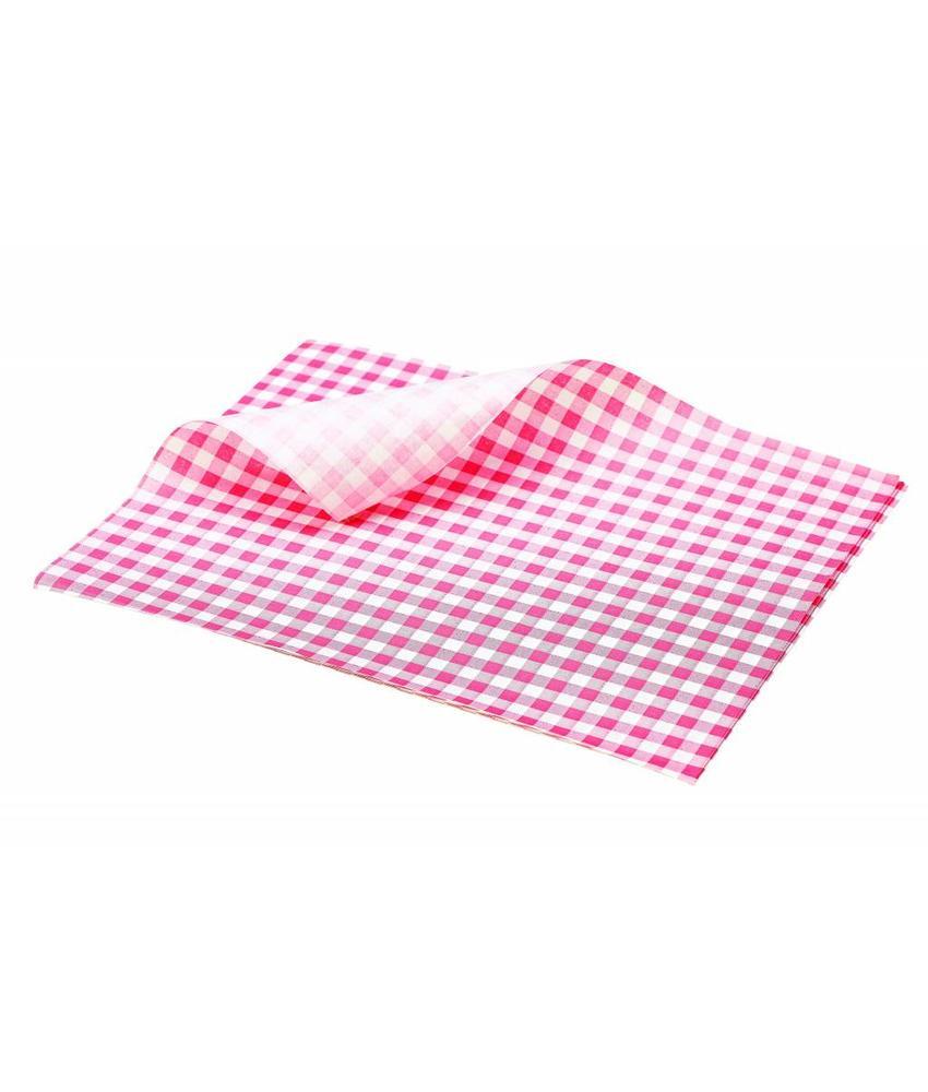 Stylepoint Vetvrij papier rood geblokt 25 x 20 cm 1000st 1 stuk(s)